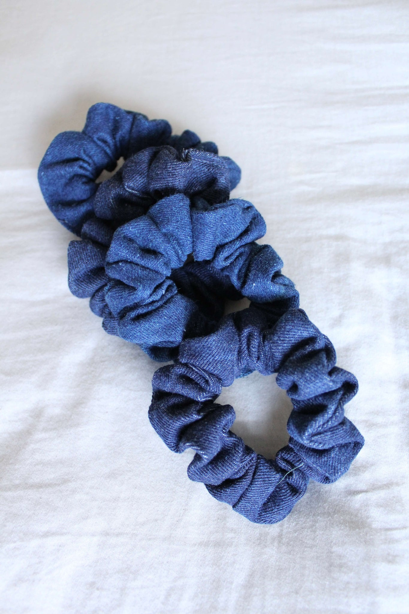 Blue Vintage Denim Scrunchie