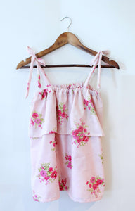 Vintage Cotton Tank with Rosette Pattern
