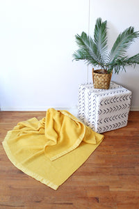 Yellow Ribbon Edge Blanket