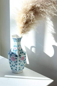 Pink and Blue Large Vase