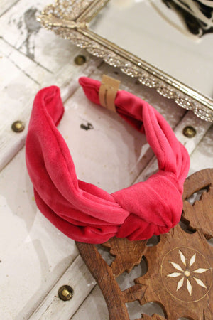 Pink Amelia Rose Top Knot Headband