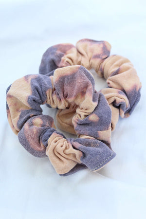 Purple Bleach Tie Dye Scrunchie