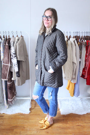 elizabeth o. vintage - Quilted Button Down Jacket