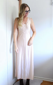 Ruched Slip Dress/Nightie - elizabeth o. vintage