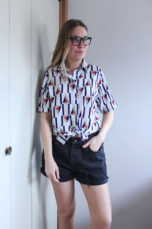Sailboat Button Down - elizabeth o. vintage