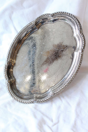 Small Oval Silver Tray