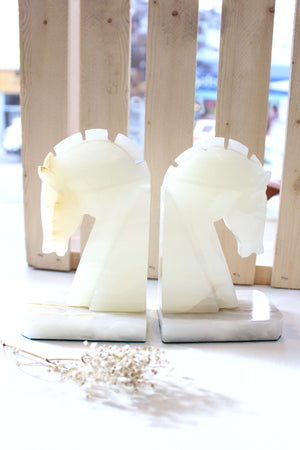 Stone Horse Bookends