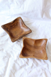 Wooden Square Bowls Set of 2