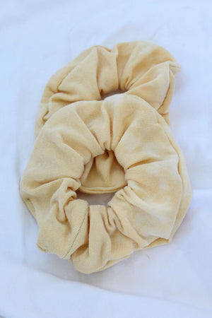Yellow Bleach Tie Dye Scrunchie