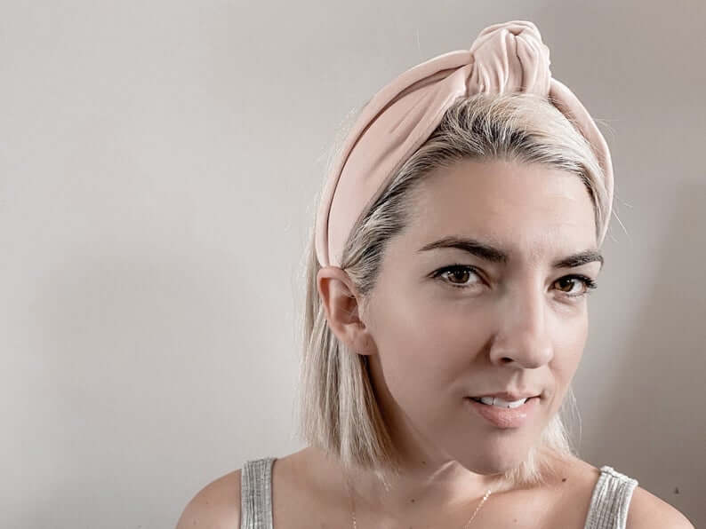 Blush Pink Amelia Rose Top Knot Headband
