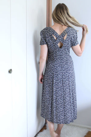 Button Down Ditsy Dress