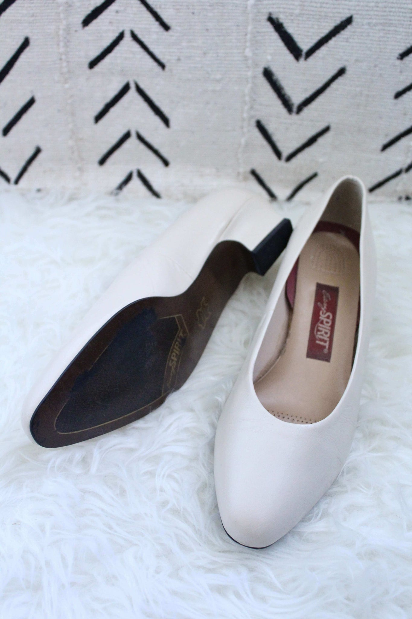 Cream Kitten Heel