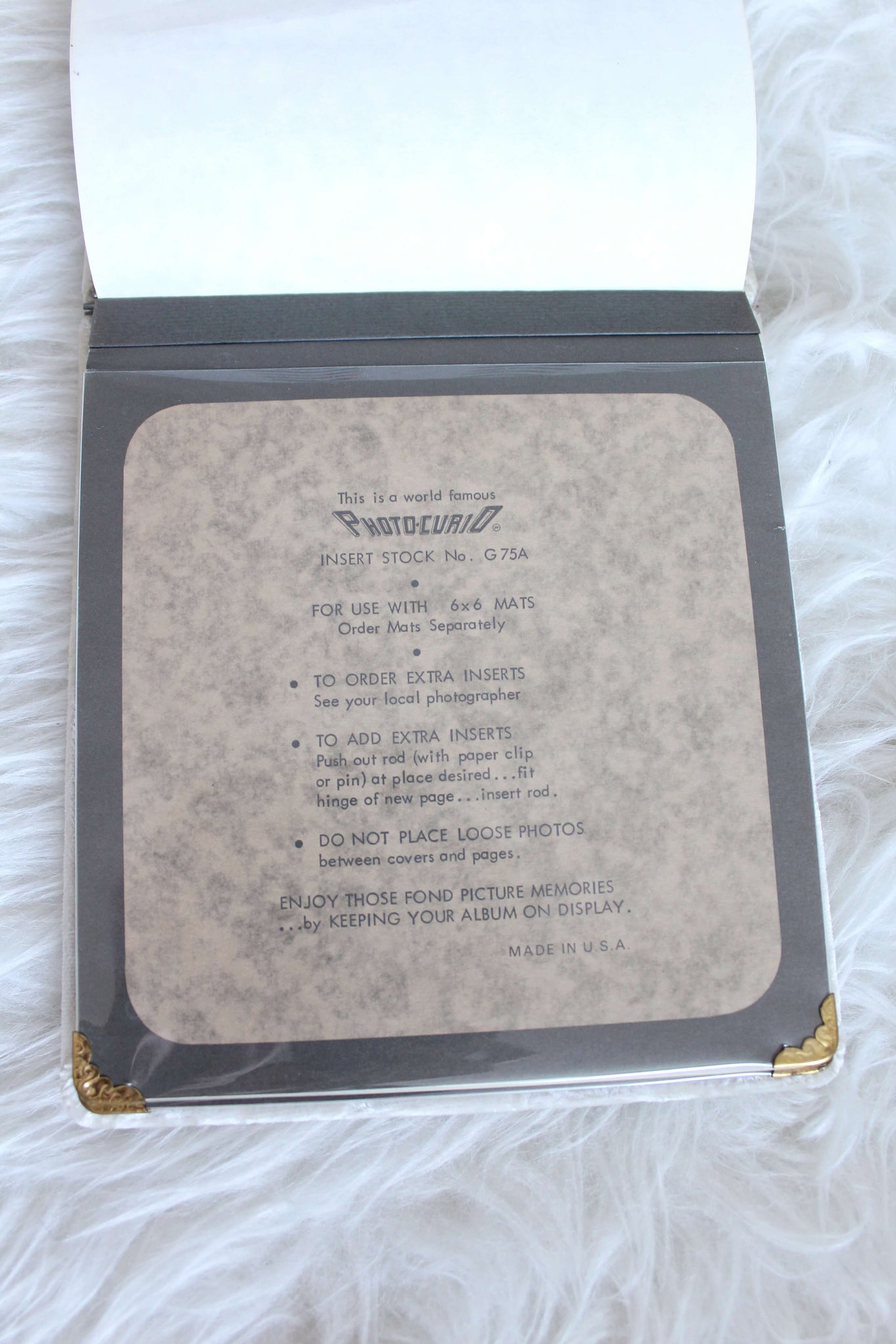 Crushed Velvet Photo Album - elizabeth o. vintage