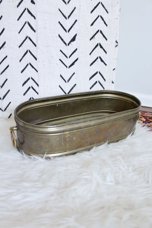 Galvanized Long Oval Bucket - elizabeth o. vintage