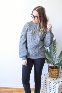 Grey Fisherman Sweater