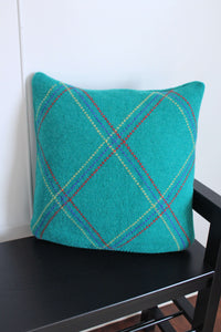 elizabeth o. vintage - Green Sweater Pillow