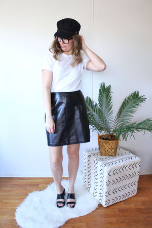 Leather Mini Skirt - elizabeth o. vintage