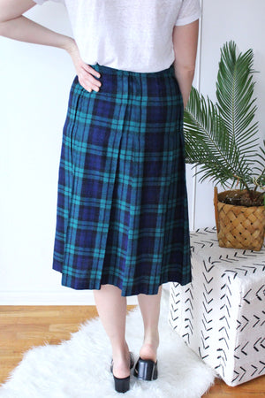 Plaid Wrap Skirt