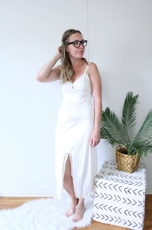 Satiny Slip Dress - elizabeth o. vintage