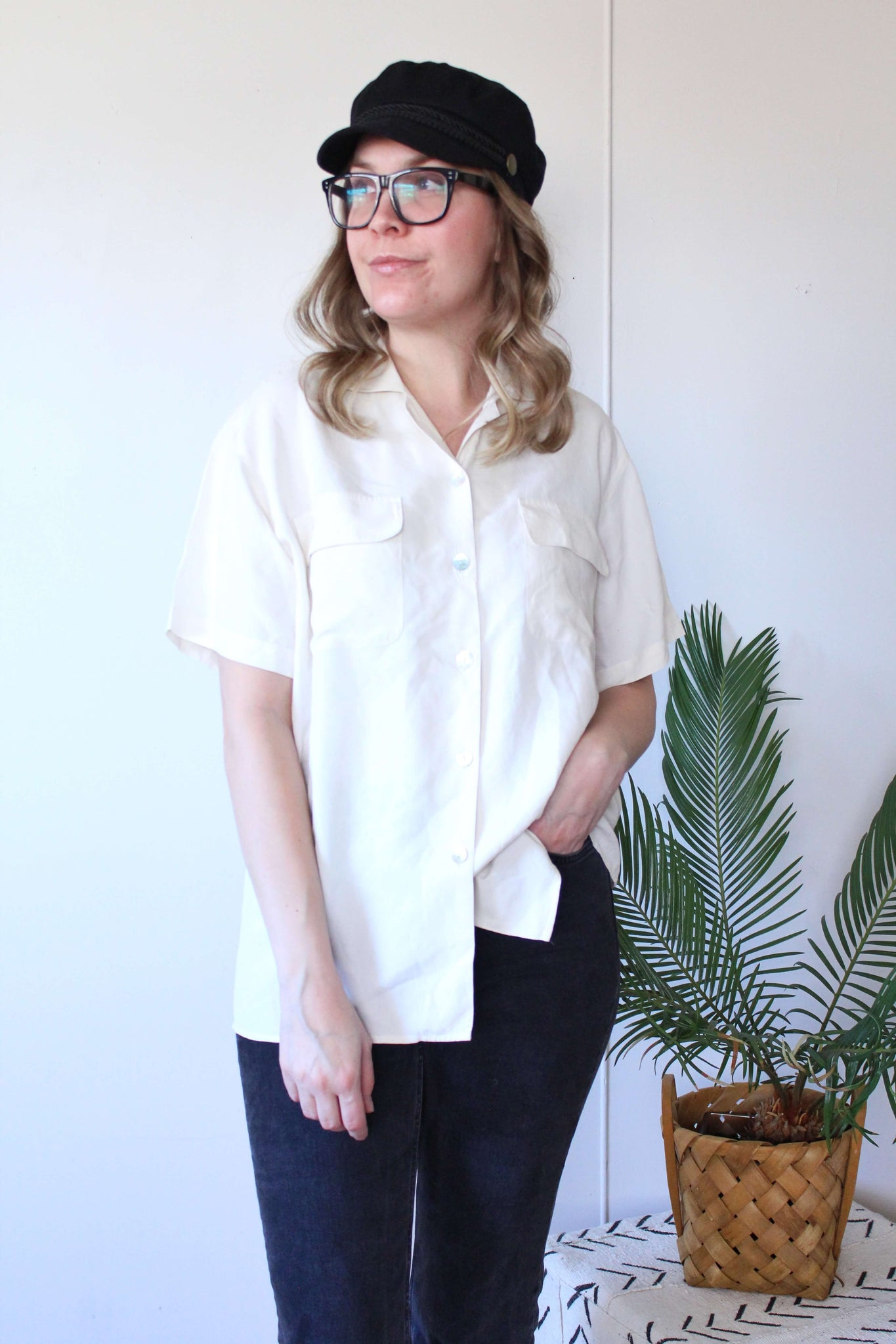 Silk Button Down