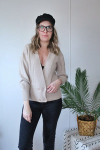 Soft Beige Cardigan