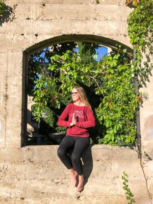 Vino & Vinyasa Cozy Crewneck Sweater