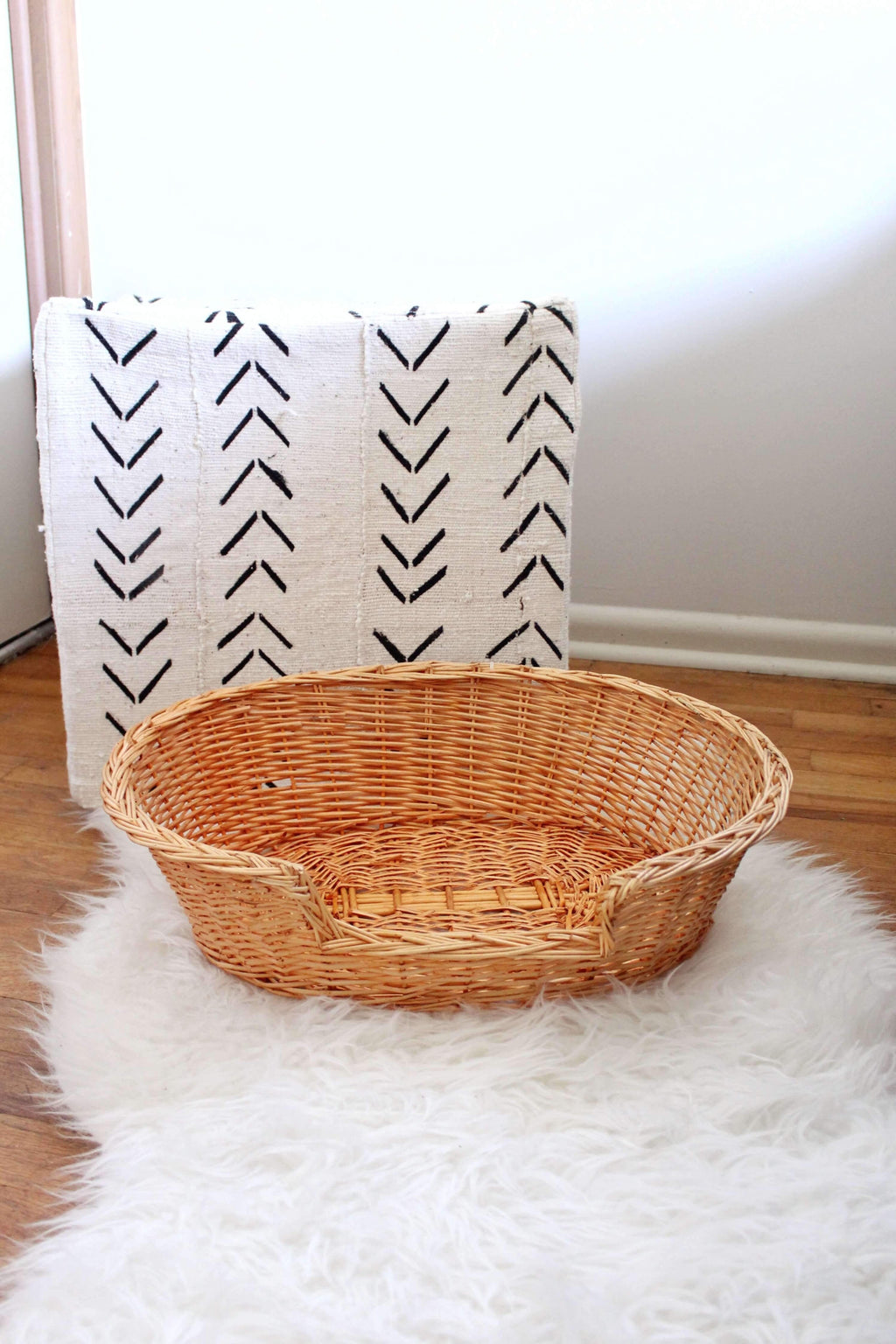 Wicker Pet Bed, Home Decor, Room Decor, Home Accessories - elizabeth o. vintage