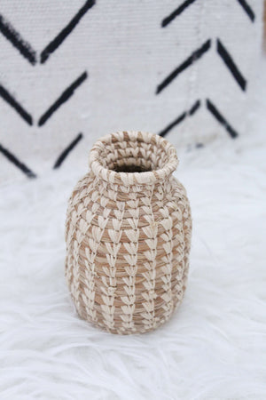 Wicker Vase, Room Decor, Home Decor, Living Room Decor - elizabeth o. vintage