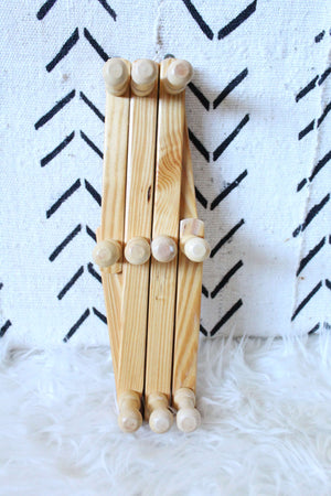 Small Wooden Peg Rack