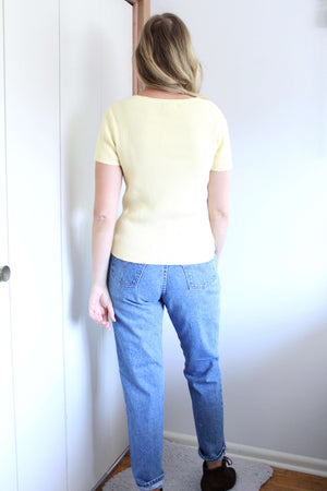 Yellow Ribbed Knit - elizabeth o. vintage