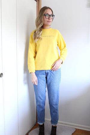 Yellow United Colors of Benneton Sweatshirt - elizabeth o. vintage