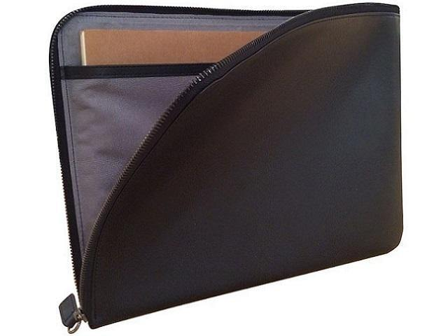 A4 Leather Document Holder with Internal Divisions and Zip Closure - Mirelle Leather & Lifestyle