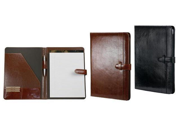 A4 Leather Folder with Tab Closure - Mirelle Leather & Lifestyle