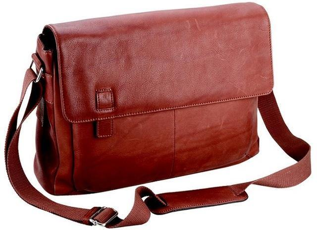 Adpel Nobel Italian Leather Messenger Bag - Brown - Mirelle Leather and Lifestyle