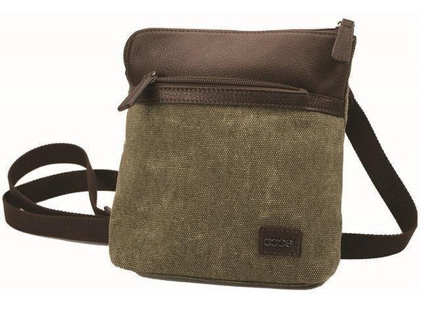 Canvas And Leather Cross Body Bag - Mirelle Leather and Lifestyle