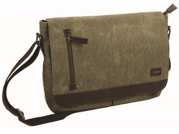 Canvas and Leather Shoulder Laptop Bag - Mirelle Leather & Lifestyle