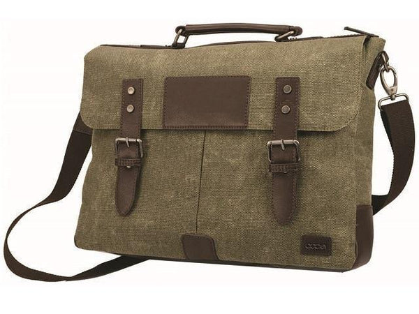 Canvas & Leather Briefcase - Mirelle Leather & Lifestyle