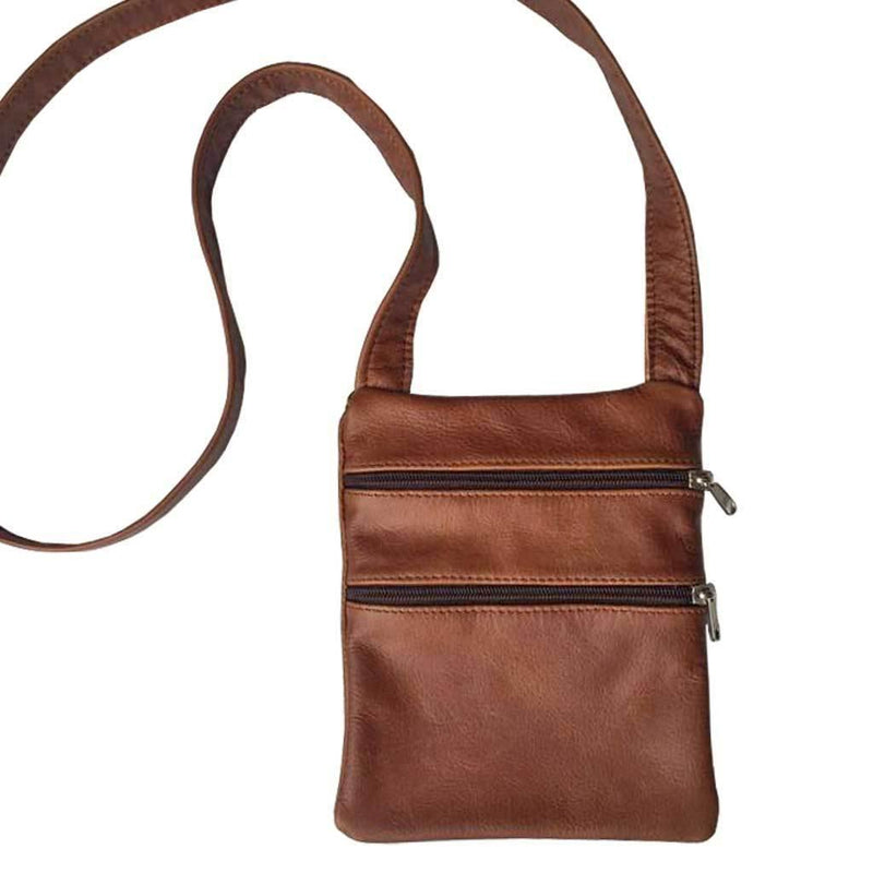 Combo 2 Plus One Free - Mirelle Leather Mini 2 Pocket Crossbody - Mirelle Leather & Lifestyle
