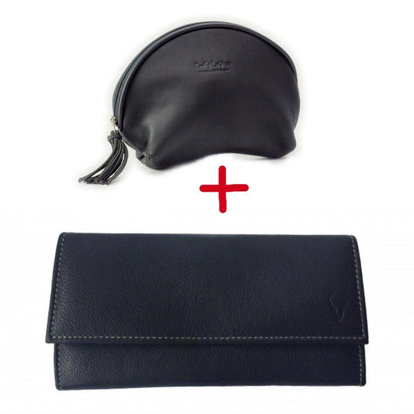 Combo-  Emily Louise Leather Purse and Vanity Bag - Mirelle Leather & Lifestyle