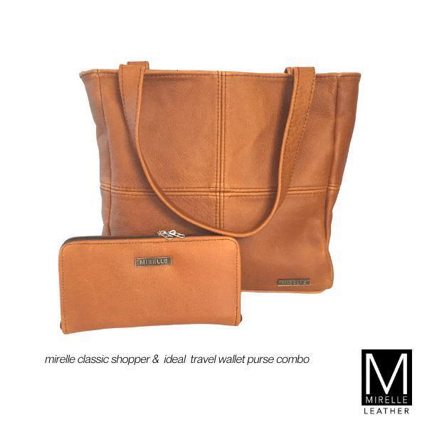 Combo - Mirelle Leather Classic Shopper & Ideal Ladies Wallet - Mirelle Leather & Lifestyle
