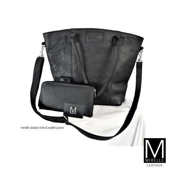 Combo - Mirelle Leather Classic Tote &  Ideal Ladies Wallet - Mirelle Leather & Lifestyle