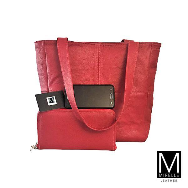 Combo - Small Mirelle Classic Shopper & Ideal Ladies Wallet - Mirelle Leather & Lifestyle