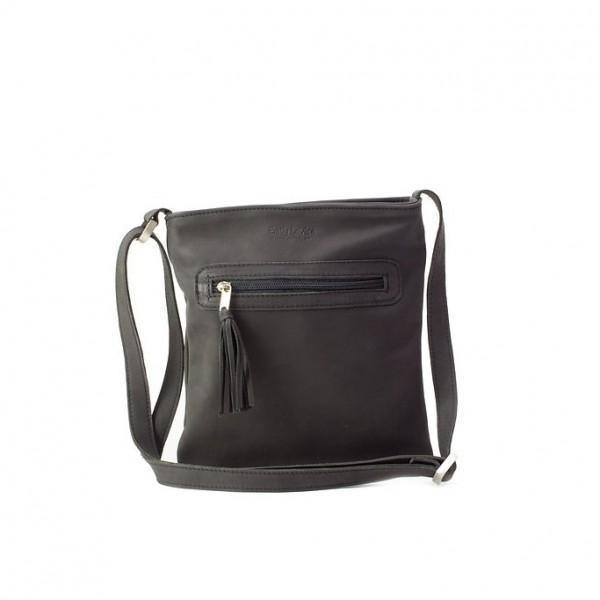 Emily Louise Genuine Leather Small Messenger Handbag - Black - Mirelle Leather and Lifestyle