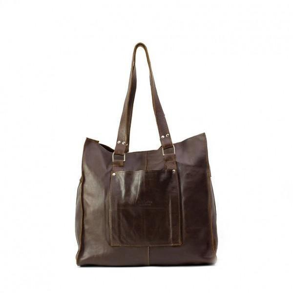 Emily Louise Genuinie Leather Large Tote Handbag - Tobacco - Mirelle Leather & Lifestyle