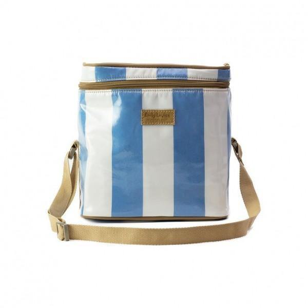 Emily Louise Lee Lunch Bag Stripe - Blue and White-Lunch Bag-Mirelle Leather & Lifestyle