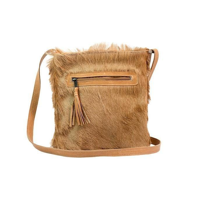 Emily Louise Small Leather Messenger - Game Skin - Mirelle Leather and Lifestyle