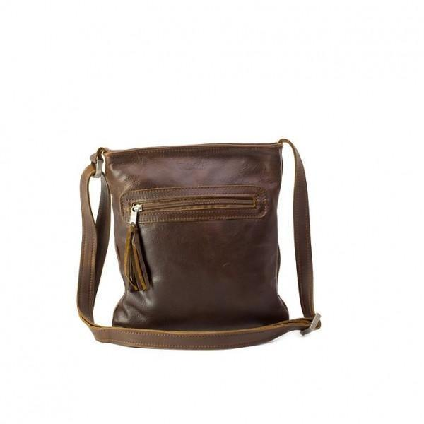 Emily Louise Small Messenger Handbag - Tobacco - Mirelle Leather and Lifestyle