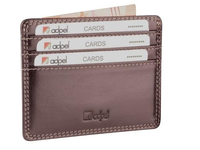 Genuin eDakota Leather Credit card Holder - Mirelle Leather & Lifestyle
