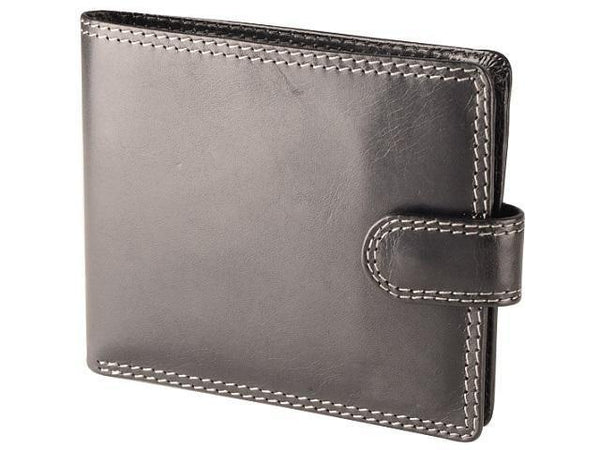 Genuine Dakota Leather with Coin Holder and Tab Closure - Mirelle Leather & Lifestyle