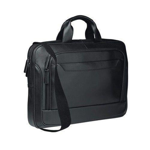 "Genuine Leather 15.4"" To 17"" Laptop Bag - Black - Mirelle Leather and Lifestyle"